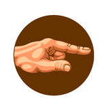 Hand, welche die Weise zeigt vektor abbildung