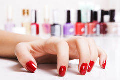 Hand with the well-groomed nails Stock Photo
