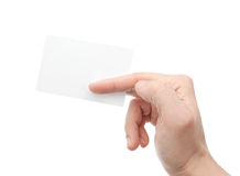 Hand whit a card Stock Images