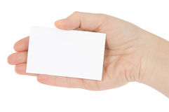 Hand whit a card Royalty Free Stock Photos