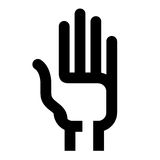 Hand on a white background. Abstract the hand symbol on a white background Stock Image