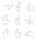 Hand on white background Royalty Free Stock Images