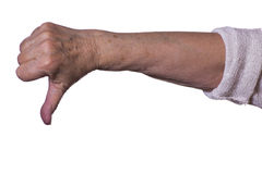 Hand on white background. Hands on white backgrounds pointing to the side Stock Images