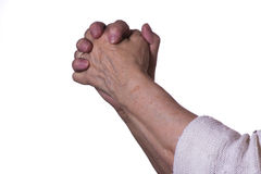 Hand on white background. Hands on white backgrounds pointing to the side Stock Photography