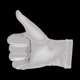 Hand in a white glove Royalty Free Stock Photos