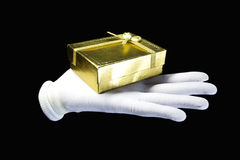 Hand in white gloves Royalty Free Stock Photos