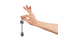 Hand whith home keys. As lucky stock image