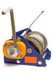 Hand winch with metal cable Royalty Free Stock Photo