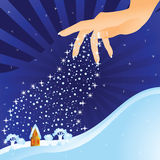 Hand (winter) Royalty Free Stock Image