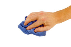 Hand wiping dirt Royalty Free Stock Image