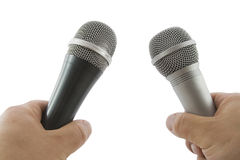 Hand with wireless microphone Royalty Free Stock Photos