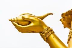 Hand of wisnu or narayana statue in huytungtao chiangmai Thailan Royalty Free Stock Photo