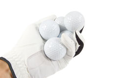 Hand wit Golf Balls Royalty Free Stock Photo