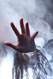 Hand of a witch Royalty Free Stock Images