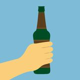 Hand With Beer Bottle Stock Images