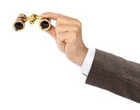 Hand With Binoculars Royalty Free Stock Image