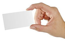 Hand With Business Card Stock Photography