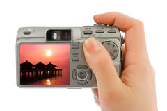 Free Hand With Camera And Landscape (my Photo) Royalty Free Stock Images - 15275829