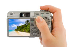 Free Hand With Camera And Landscape (my Photo) Stock Photos - 8514213