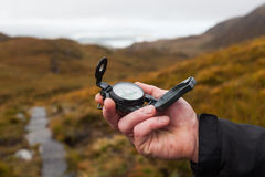 Free Hand With Compass Stock Photography - 35259242
