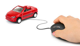 Free Hand With Computer Mouse And Car Royalty Free Stock Photos - 13080528