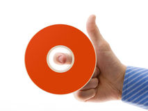 Hand With Disc Stock Photo