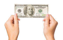 Hand With Dollars Royalty Free Stock Photo