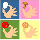 Hand With Food Stock Photography