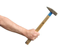 Hand With Hammer Stock Image