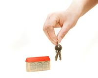 Hand With Keys From New House Stock Images