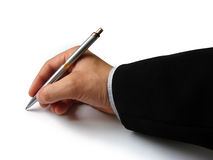 Free Hand With Pen Royalty Free Stock Photography - 10008747