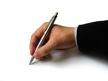 Free Hand With Pen Stock Image - 10437791