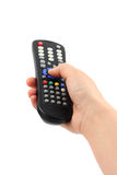 Hand With Remote Control Royalty Free Stock Photography