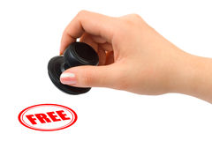 Free Hand With Stamp Free Royalty Free Stock Photography - 8194167
