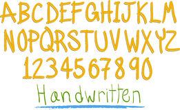 Hand witten fun alphabet Stock Photos