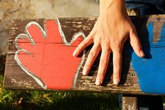 Hand of a woman Stock Image