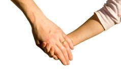 Hand of woman and child Royalty Free Stock Photo