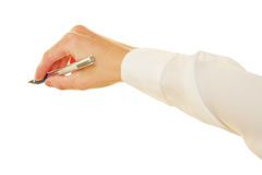 Hand of woman holding scalpel Royalty Free Stock Photography