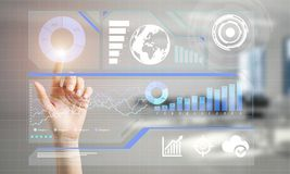 Concept of using modern technologies for business globalization and networking Stock Images
