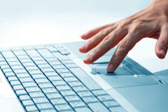 Hand, women are using computers Royalty Free Stock Photography