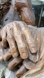 Hand wood carving Royalty Free Stock Photography