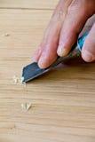 Hand wood work Stock Photo