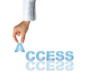 Hand and word Access - business concept. (isolated on white background Stock Photo