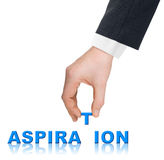 Hand and word Aspiration Stock Photo