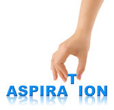 Hand and word Aspiration Stock Images