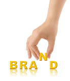 Hand and word Brand Royalty Free Stock Images