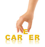 Hand and word Career Royalty Free Stock Images