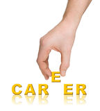 Hand and word Career Stock Image