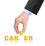 Hand and word Career Royalty Free Stock Photo