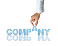 Hand and word Company Royalty Free Stock Image